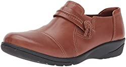 Clarks Womens Cheyn Madi Slip-on Loafer, Dark Tan Leather, 12 M US