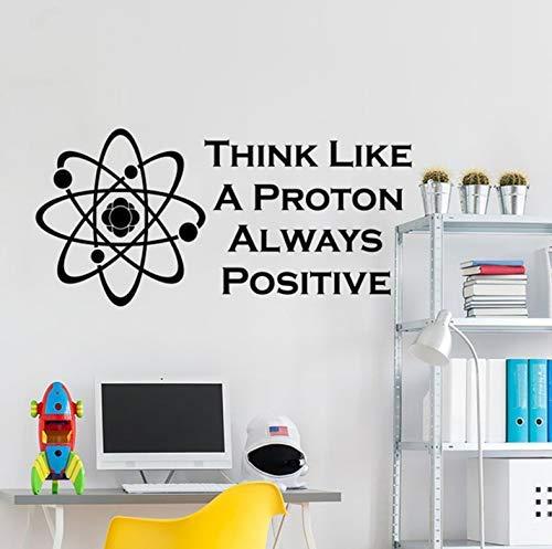 Stellen Sie Sich Ein Immer Positives Wandtattoo Vor Zitate Wissenschaftliche Vinyl Aufkleber Klassenzimmer Wanddekoration Büro Schule Wanddekoration 87X42Cm