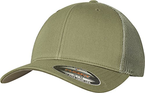 Flexfit Erwachsene Mütze Mesh Trucker, grün (buck), L/XL
