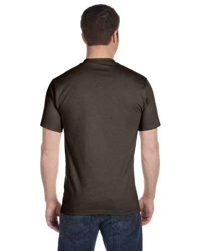 Hanes Lay-Flat Tag-Free Crewneck Beefy T-Shirt Dark Chocolate