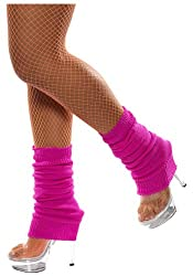 Neon Knitted Leg Warmers (Pink)