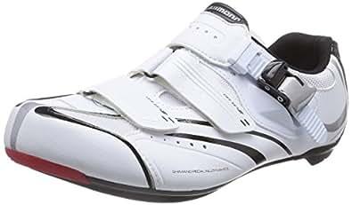 Shimano E-SHR088W, Unisex-Erwachsene Radsportschuhe - Rennrad, Weiß (White), 42 EU