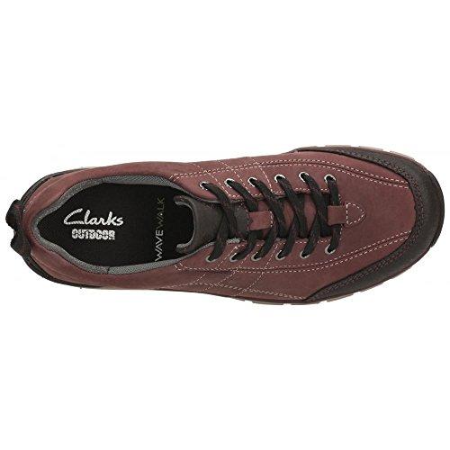 Clarks Wave vagare a piedi scarpe da donna in Berry o Navy Berry Nubuck