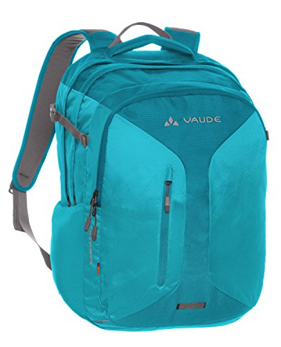 VAUDE, Zaino Tecowork II, Rosso (Indian Red), 47 x 32 x 15 cm, 28 litri Turchese (Alpine Lake)