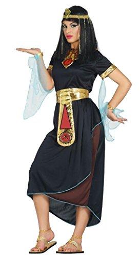 �r Damen Ägypterin Königin Orient Antike Fasching schwarz, Größe:M (Schwarze Cleopatra-kostüm)