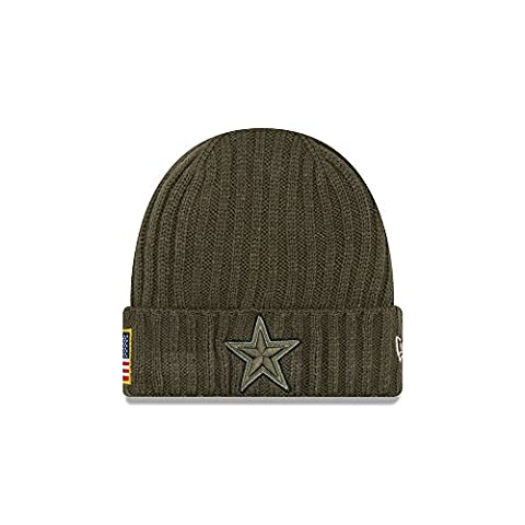 New Era NFL DALLAS COWBOYS Salute to Service 2017 Authentic Sideline Beanie Knit
