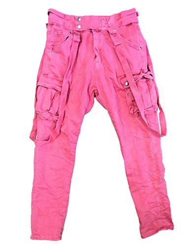 ITAIMASKA Damen Cargohose Militär HosenWorktrousers Freizeithose HS3212 (M, Pink)