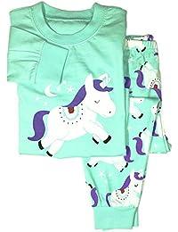 Winzero Girls Christmas Pyjamas Set Cute Kids Long Sleeve Cotton Pjs Pajama Sleepwear Tops Shirts & Pants Nightwear Children Outfit
