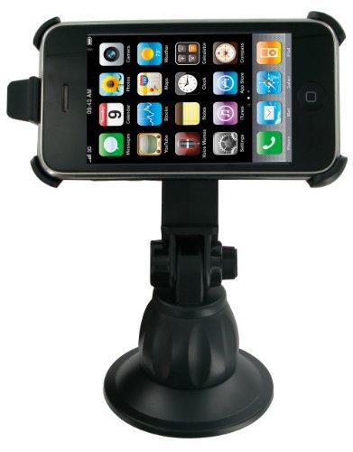 Kit In-Car KFZ Halterung sowie Schreibtisch-Ständer mit Saugnapf für iPhone 3G/3GS/4/4S - Schwarz Iphone 3g-auto-kit
