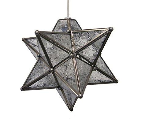 Pmgs2 moucheté 28 cm en verre en forme d'étoile en chrome