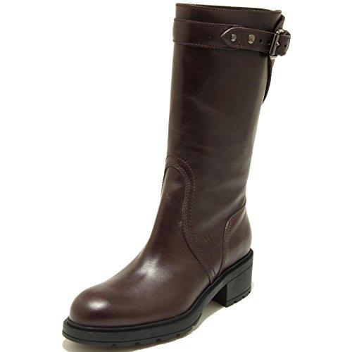 2674G stivale donna bordeaux HOGAN H 083 TRONCHETTO FIBBIA KRAFT scarpa boots sh Bordeaux