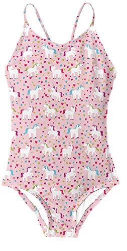 RAISEVERN Unicorns Printed Bademode für 9-10 Jahre Mädchen 1 Stück Badeanzug Athletic Sleeveless Badeanzug XL Pink -