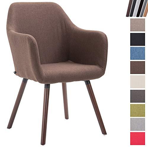 Clp sedia da pranzo picard v2 | sedia design in tessuto e legno marrone noce