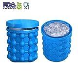 Xinliands cubetti di ghiaccio del silicone Genie rivoluzionario platzsparende BPA Free Soft 2in 1funzione cubetti di ghiaccio forme Secchiello per il ghiaccio con coperchio Outdoor Travel Ice Genie