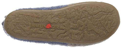 Haflinger Cappi Unisex-Kinder Hohe Hausschuhe Blau (59 taubenblau)