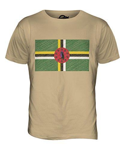 CandyMix Dominica Kritzelte Flagge Herren T Shirt Sand