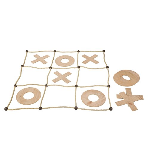 Giant Noughts and Crosses Garden Game - Including Giant X's and O's, Rope Board and Nylon Storage Bag