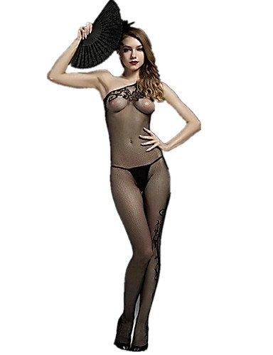 HJL Da donna Completi Indumenti da notteSexy Di pizzo Jacquard , black , one-size black