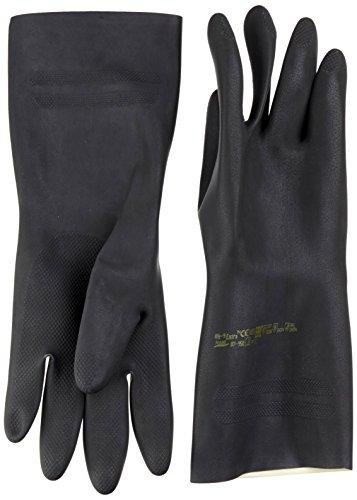Ansell Extra 87-950 Naturgummilatex Handschuhe, Chemikalien- und Flüssigkeitsschutz, Schwarz