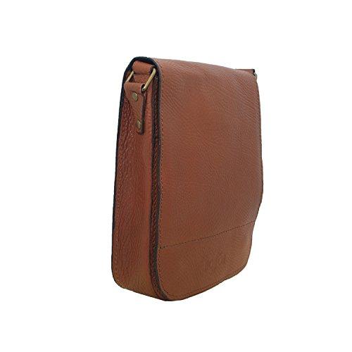 Koson vera 100% pelle di mucca handmade Satchel Borsa a tracolla borsa Messenger