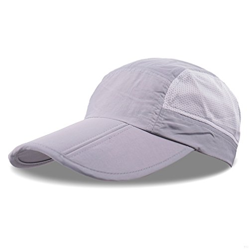 GADIEMENSS Quick Drying Breathable Running Outdoor Hat Cap Only 2 Ounces (White)