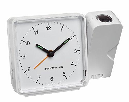 TFA Dostmann 60.5012.02 Projektionsuhr, 11,5 x 8,3 x 5,3 cm, weiß, Kunststoff