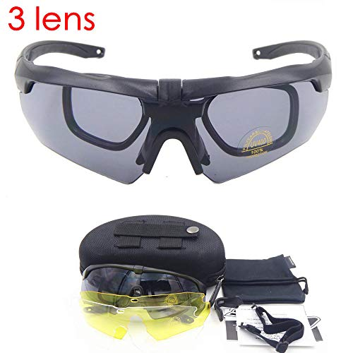 CHENHUI Brille Auto Photochromic Military Goggles Sonnenbrillen Kugelsichere Army Tactics Taktische Brillen Schießen Brillen Verfärbung @ 1a