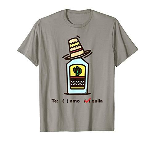 Tequila Te amo T-Shirt Sombrero Mexikaner Mexikanisch
