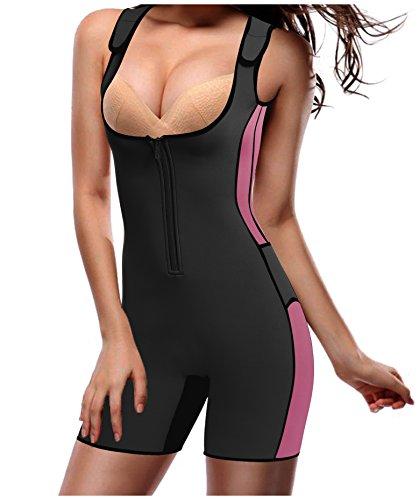 Gotoly Damen Neopren Abnehmen heißen Sauna Schwitzanzug Ärmeln für Gewichtsverlust (2XL Für 50-52, Schwarz) (Gesehen-bh Tv Wie Im)