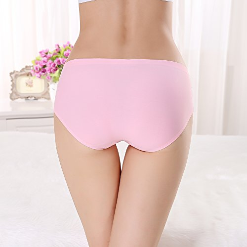 FZmix Top Quality Summer Style Women Panties Thin Seamless Briefs Ice Silk Underwear Ladies Intimates Calcinha Plus Size Pink