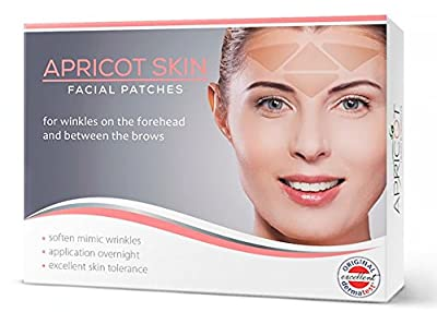 Apricot Skin Anti-Falten Gesichtspads zur Behandlung der Zornesfalte / Strinfalten - sanfte und nachhaltige Methode zur Faltenreduzierung! 100 Patches Zornesfalte / Stirn