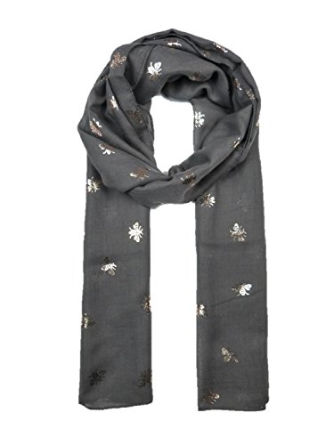 Ladies Girls Women/'s Glitter Bumble Bees Scarves Wraps Shawl Soft Scarf