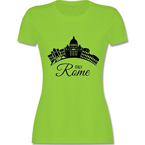 Skyline - Skyline Rome Italien Italy - tailliertes Premium T-Shirt mit Rundhalsausschnitt für Damen Hellgrün