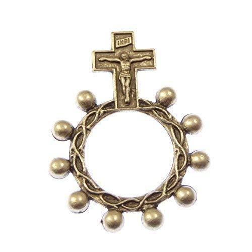 1 Ein Jahrzehnt Tasche Rosenkranz Perlen - Silber Metall Rosenkranz ring