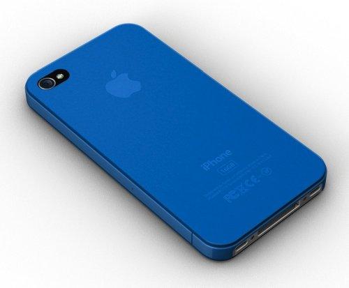 XtremeMac IPP-MT5-03 MicroShield Thin Schutzhülle für Apple iPhone 4/4S (0,4mm dünn) weiß blau