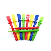 a2bsales 10 x Glue Spreaders - Plastic Kids Pva Paste Adhesive Spatula - Craft Accessory
