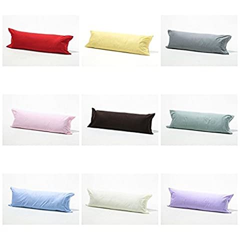 Bolster Pillowcases 100% Polycotton Blend Luxury product Range of Colours