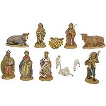 Alfred Kolbe Krippen BL - Juego de 12 figuras de belén (8cm, plástico, pintadas)