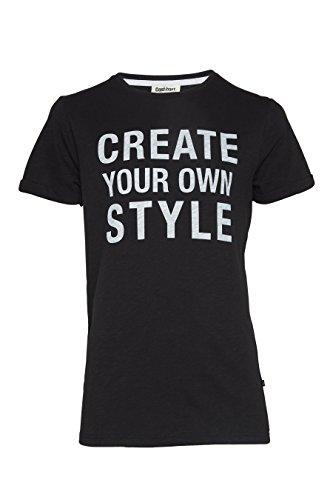 COST:BART Jungen Basic T-Shirt Algar, schwarz 999 Gr.L (164)