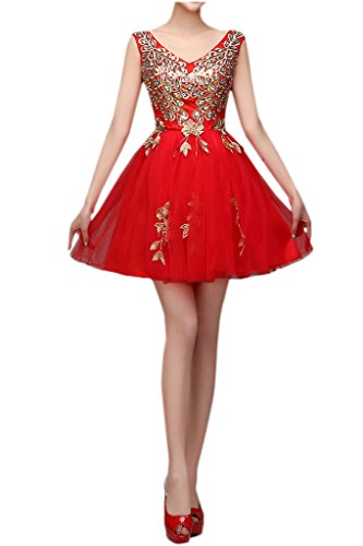 Ivydressing -  Vestito  - linea ad a - Donna Rouge - Rouge