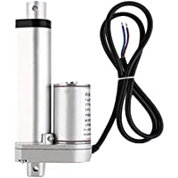 Honfam - Accionador lineal eléctrico pequeño con cilindro de elevación para carrito de carreras, 500 N de elevación máxima, velocidad 20 mm/s, 12 V CC