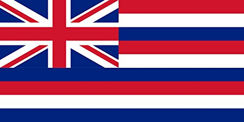 magFlags Flagge: Large Hawaii 1816 | Hawaii 1816-1845, as observed by Louis Choris | Ka hae Hawai?i 1816-1845 | Querformat Fahne | 1.35m² | 80x160cm » Fahne 100% Made in Germany