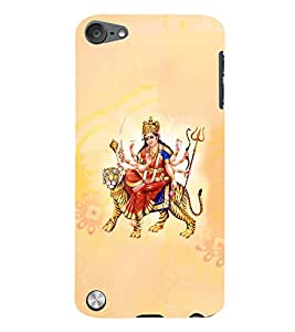 Fuson 3D Printed Lord Durga Designer Back Case Cover for Apple iPod Touch 5 - D512