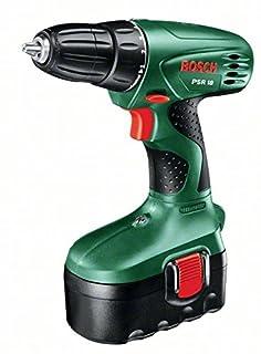 Bosch Home and Garden 0.603.955.300 Bosch PSR 18 - Atornillador con batería (1 velocidad, 10 niveles, 18 V), 21.6 W, Negro, Verde (B000PXFWUK) | Amazon price tracker / tracking, Amazon price history charts, Amazon price watches, Amazon price drop alerts