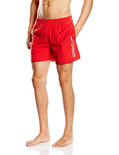Speedo Scope, Short Homme, Rouge, FR : L (Taille Fabricant : L)