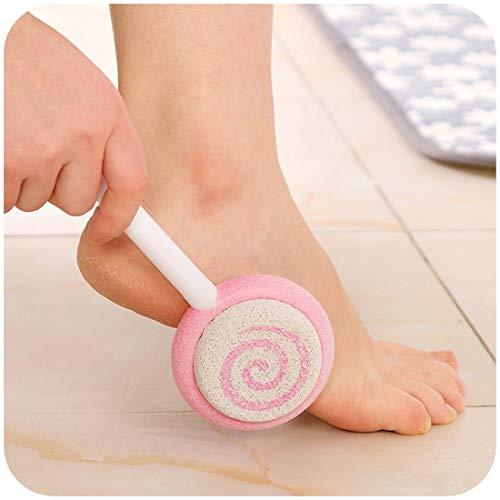 2 Stück-peeling (H-C BATHROOM Badprodukte 2 STÜCKE Lutscher Peeling Schleifen Fuß Werkzeug Fuß Reiben Stein Fußpflege Werkzeug, zufällige Farbe Lieferung Einfach und praktisch)