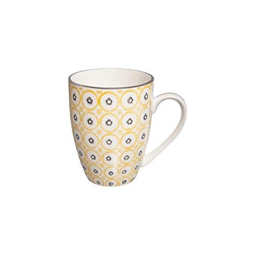 Mug Camila - 34 cL - Jaune et blanc