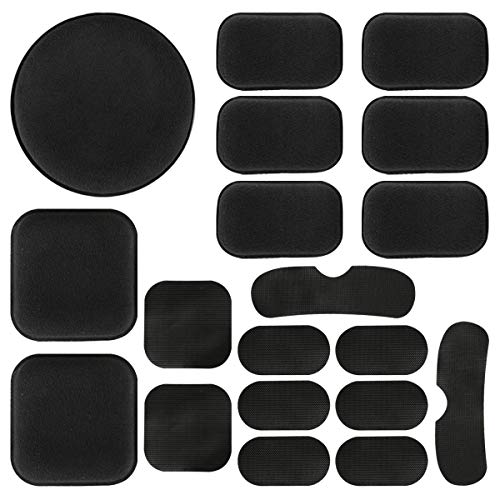 Pottery & Glass 19pcs Standard Helmet Pads Eva Non-toxic Quick Dry Protective Cushion Replacement For Fast Helmets With Hook And Loop Fastener