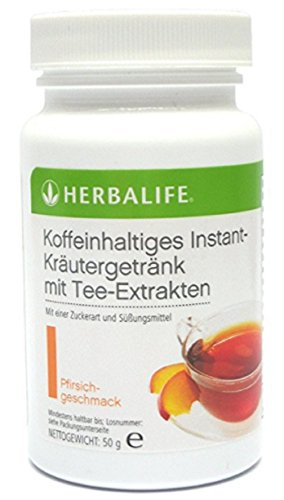 Herbalife Koffeinhaltiges Instant-Kräutergetränk mit Tee-Extrakten, Geschmack Pfirsich, 50 gr -