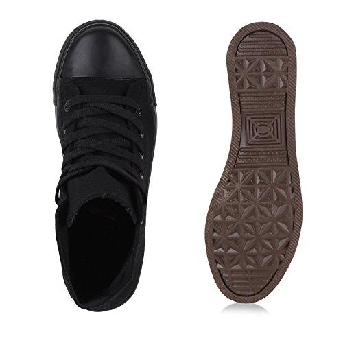 Stiefelparadies - Pantofole a Stivaletto Donna nero-nero